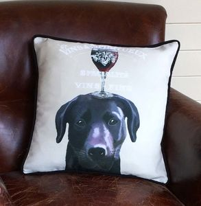 Black Labrador Cushion, Dog Au Vin Wine Gift - what's new