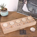 Personalised Wooden Scrabble Wooden Tealight Holder