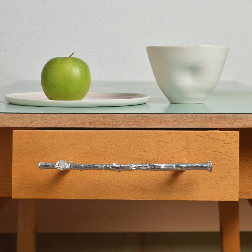 Twig Pewter Drawer Pull Or Cupboard Handle By Glover And