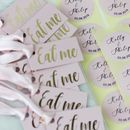 D I Y 'Eat Me' Wedding Favour Labels Personalised