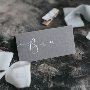 Dark Grey Place Card