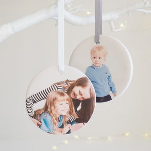 Personalised Photo Ceramic Hanging Decoration