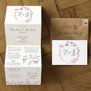 Summer Meadow Wedding Invitation Set - save the date cards