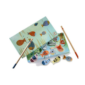 Wooden Magnetic Fishing Lily Game