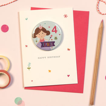 Princess Birthday Badge Card