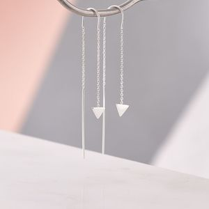 Triangle Detail Chain Earrings