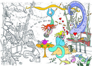 Mermaid Sea Adventure Colouring In Poster