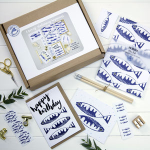A Box Of Stationery Happiness Blue Fish