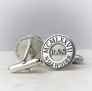 Deep Engraved Personalised Silver Cufflinks - men's accessories