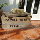 Personalised Wooden Apple Crate