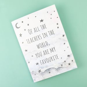Starry Nights 'Of All The Teachers' A5 Notebook