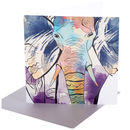 Sumatran Elephant Greetings Card