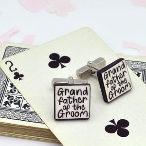 Grandfather Of The Groom Wedding Cufflinks - winter sale