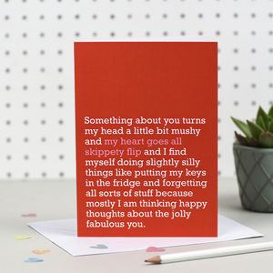 'My Heart Goes All Skippety Flip' Card