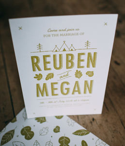 Woodlands Summer Camp Wedding Day Invitations - invitations