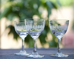 Set Of Six Oval Art Deco Style Liqueur Glasses - best wedding gifts
