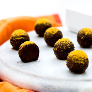 Vegan Friendly Dark Chocolate And Orange Truffles