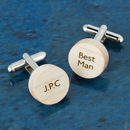 Personalised Wooden Round Cufflinks