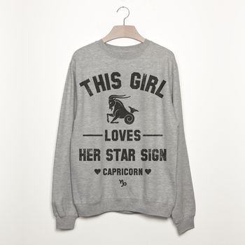 Capricorn Women's Zodiac Star Sign Sweatshirt