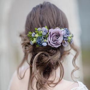 Melody Flower Hair Comb - bridal hairpieces