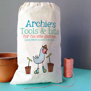 Personalised Kids Gardening Storage Sack - storage