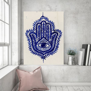Hindi Palm Of Protection | Canvas Art - canvas prints & art