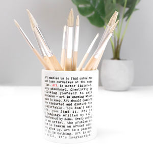 Utensil Pot; Paintbrush Pot Gift For Artist