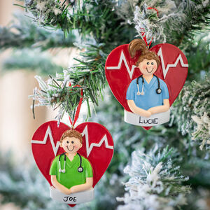 Personalised Medical Hero Heart Decoration