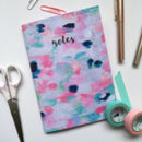 'Notes' Confetti Print Abstract Lined Notebook