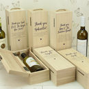 Personalised Any Text Wooden Bottle Box