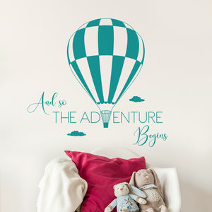 And So The Adventure Begins Quote Wall Decal Sticker