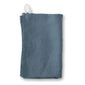 Parisian Blue Linen Tea Towel