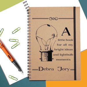 Bright Ideas Personalised Notebook
