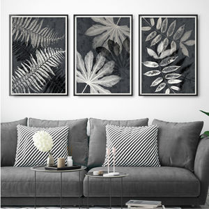 Set Of Three Modern Botanical Wall Art Prints