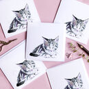 Inky Kitten Blank Greeting Card