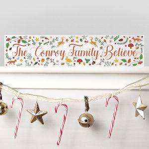 Personalised 'We Believe' Christmas Decoration