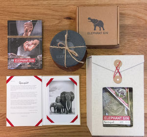 Elephant Gin Gift Set With Coasters - gin