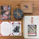 Elephant Gin Gift Set With Coasters