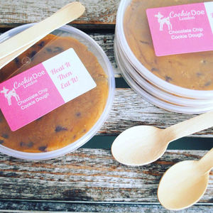 Set Of Four Chocolate Chip Cookie Dough Tubs