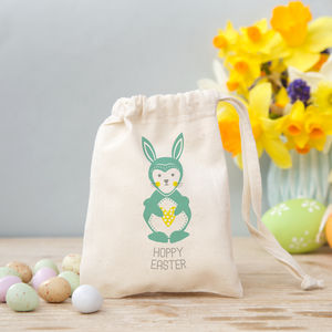 Scandi Folk Bunny Gift Bag With Sweets Or Chocolate - party bags & filler kits