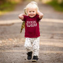 'Adventure Awaits' Children's Slogan T Shirt