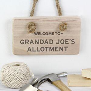 Personalised 'Welcome To…' Wooden Sign - art & decorations