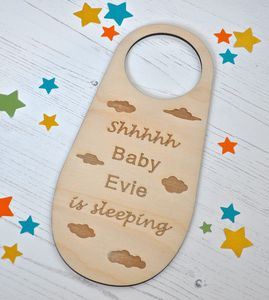 Personalised Baby Is Sleeping Door Hanger - baby & child sale