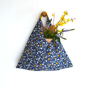 Handmade Medium Origami Shopper Modern Floral - women's accessories