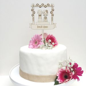 Personalised Wedding Couple Cake Topper - cake toppers & decorations