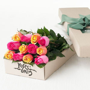 Bright Mix Rose Gift Bouquet - alternative flowers & chocolates