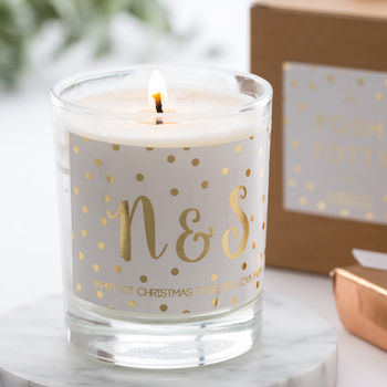 Personalised Gold Foil Scented Candle
