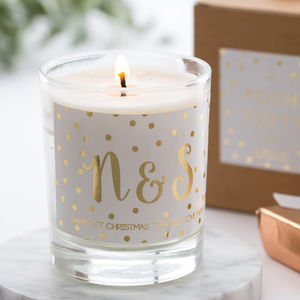 Personalised Gold Foil Scented Candle - gifts for couples