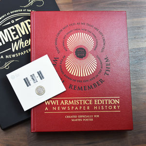 Armistice Limited Edition Newspaper Book And Coin