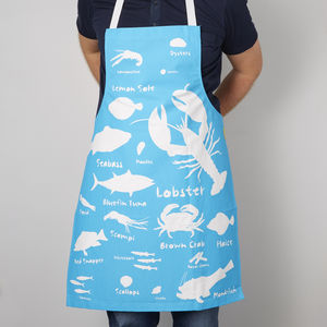 Seafood Kitchen Apron - winter sale